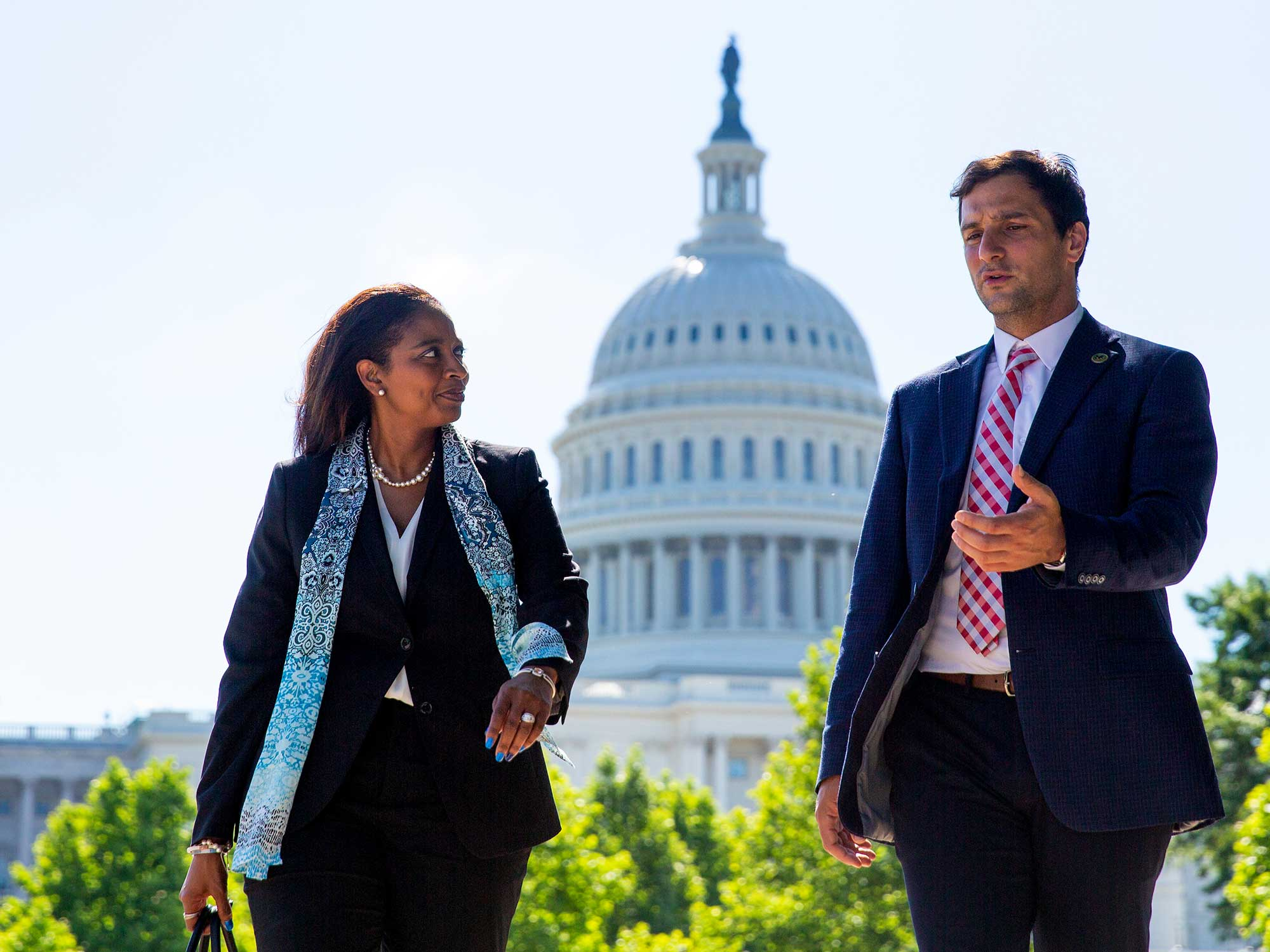 Students walking on Capitol Hill
