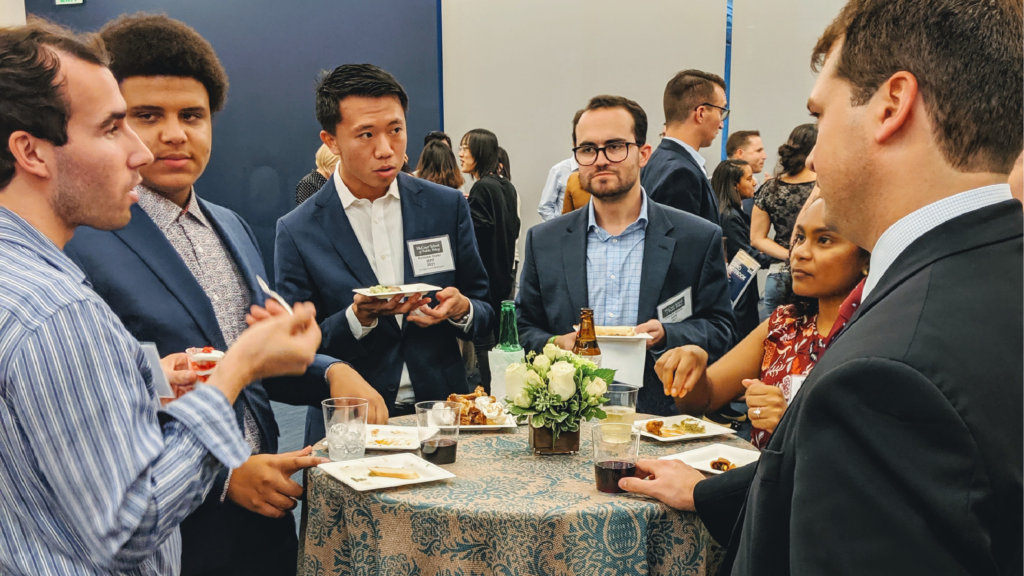 Image of students at the 2019 annual McCourt School networking night