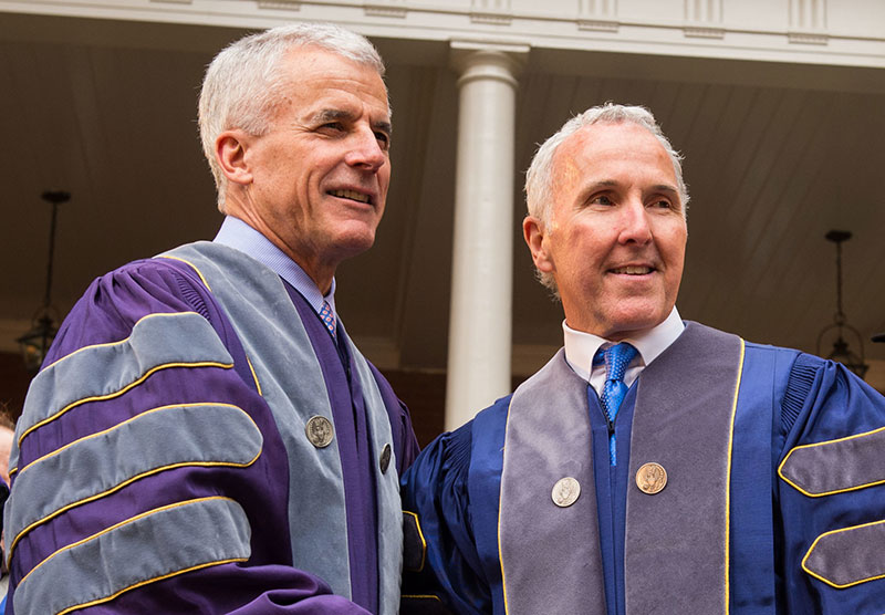 Frank McCourt at Opening Ceremony for the McCourt School of Public Policy