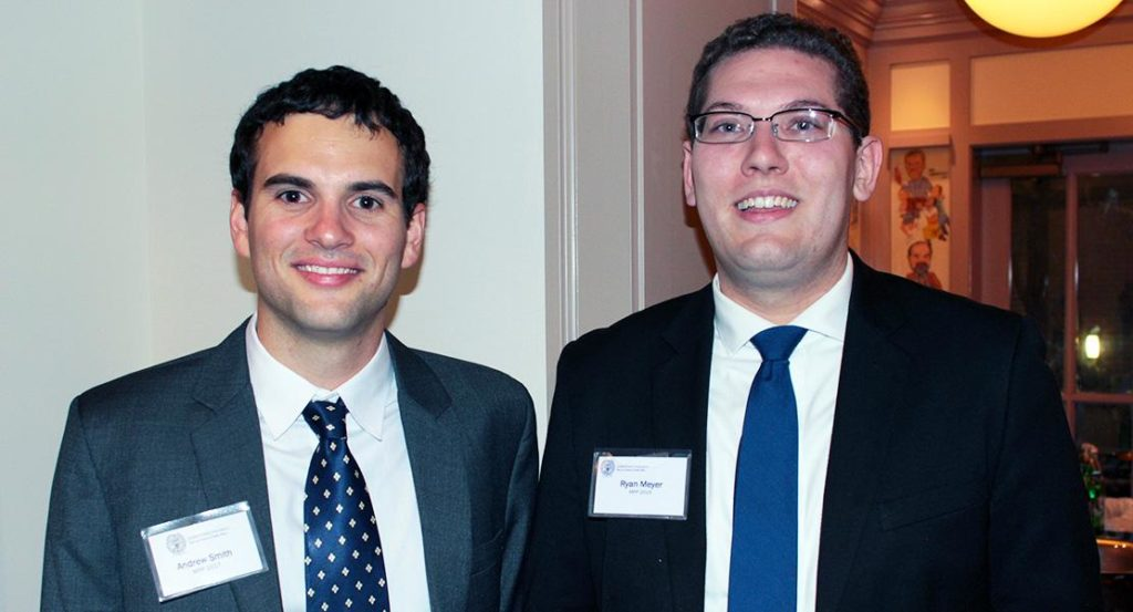 Alumni at a McCourt event