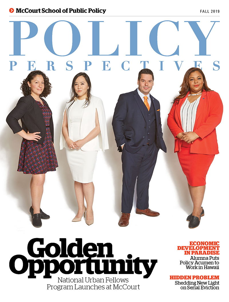 Cover image of Policy Perspectives: featuring four National Urban Fellows Students