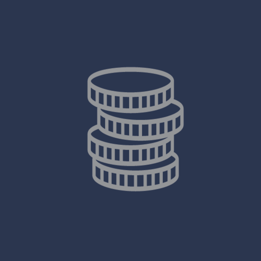 Vector image of coins stacked