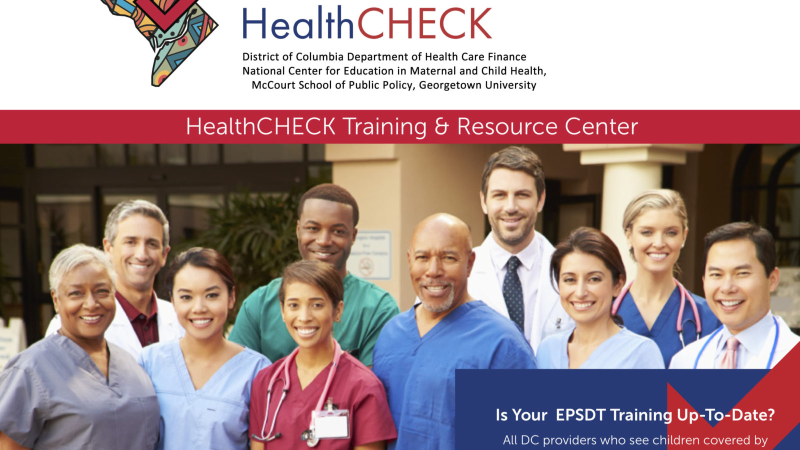 Image of the team involved with HealthCHECK. Is your EPSDT training up to date?