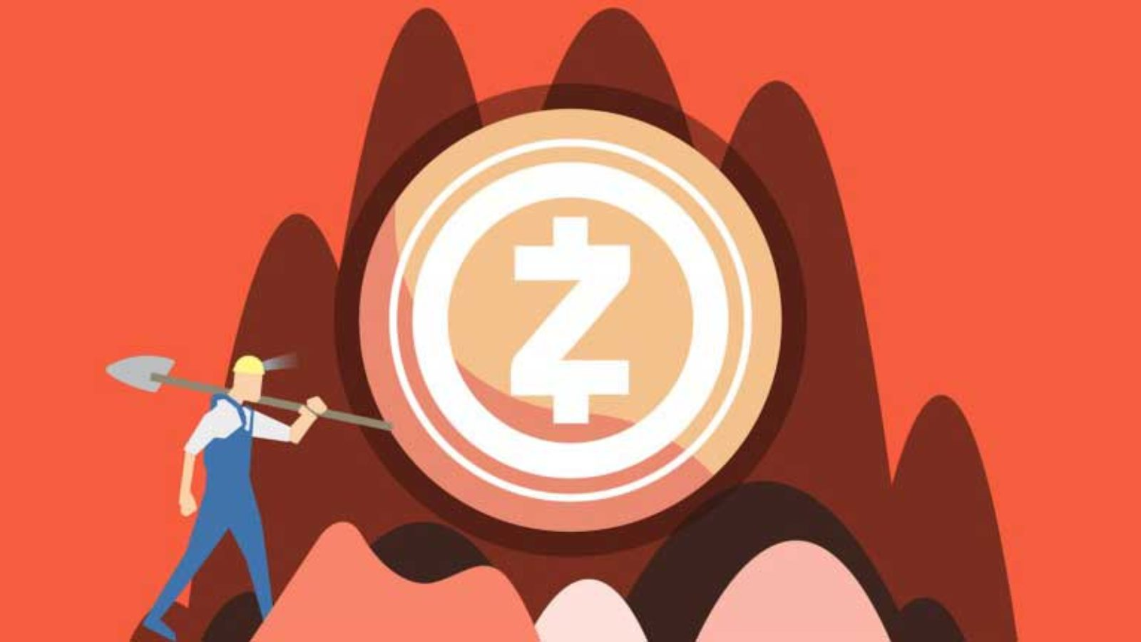 Vector image of man digging for bitcoin