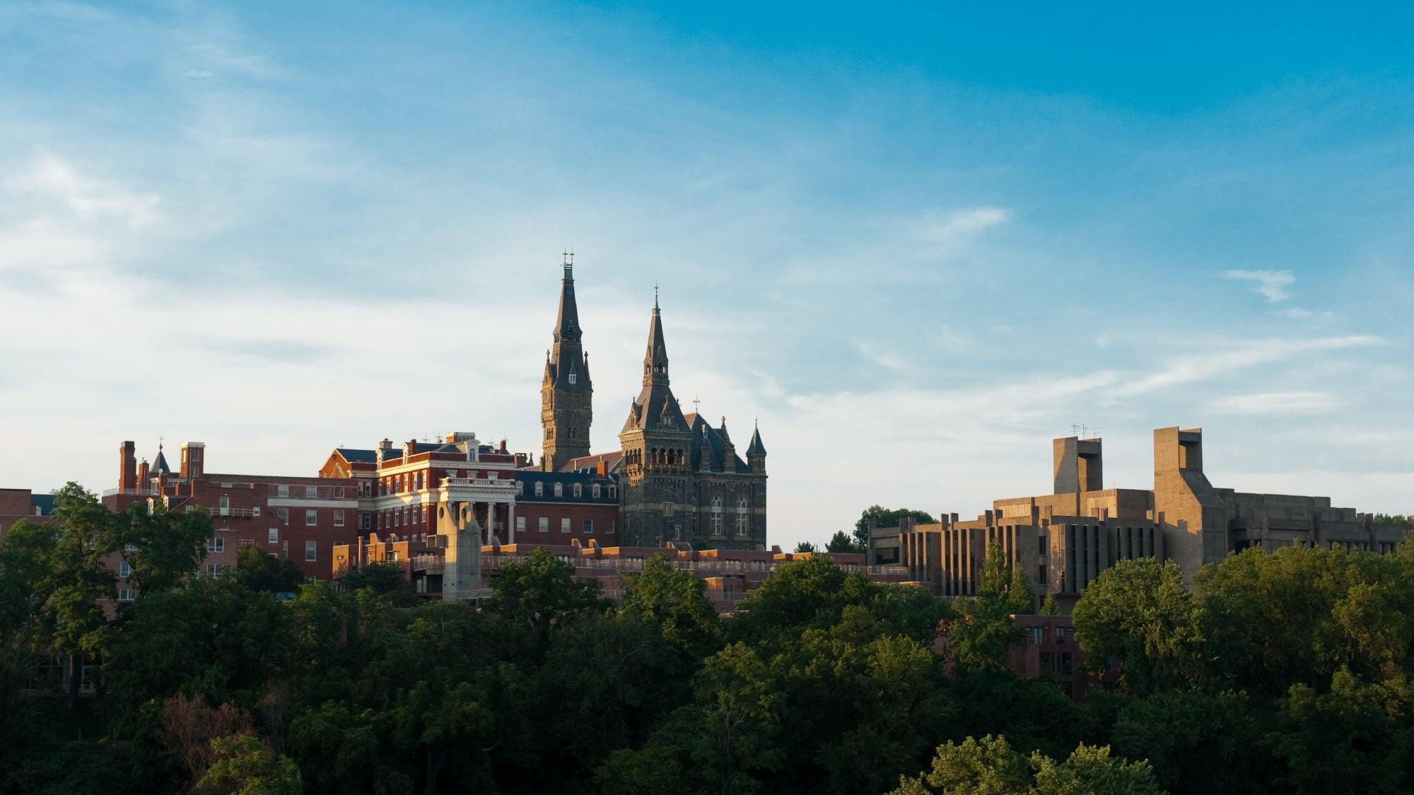 Aerial shot of Georgetown campus
