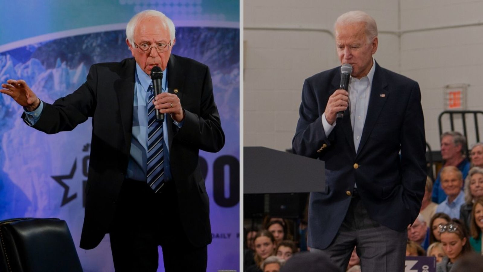 Photo of Senator Bernie Sanders and former Vice President Joe Biden