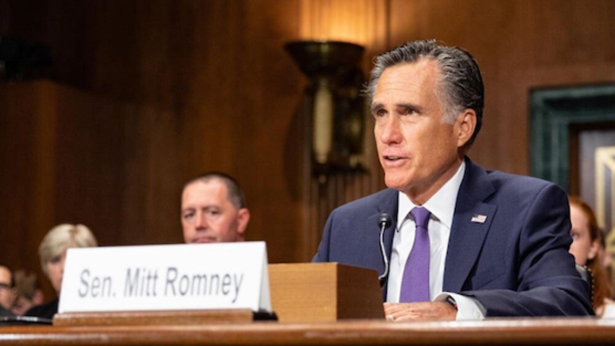 Photo of Senator Mitt Romney
