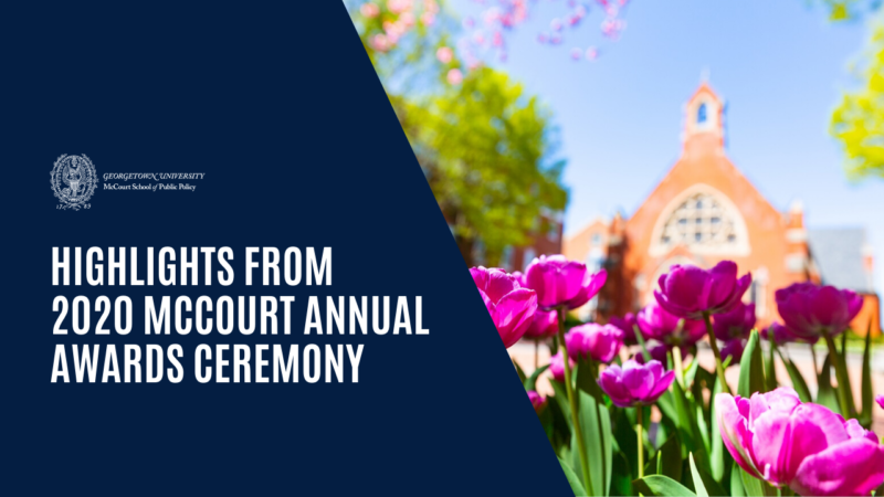 Highlights video from McCourt Awards Ceremony 2020