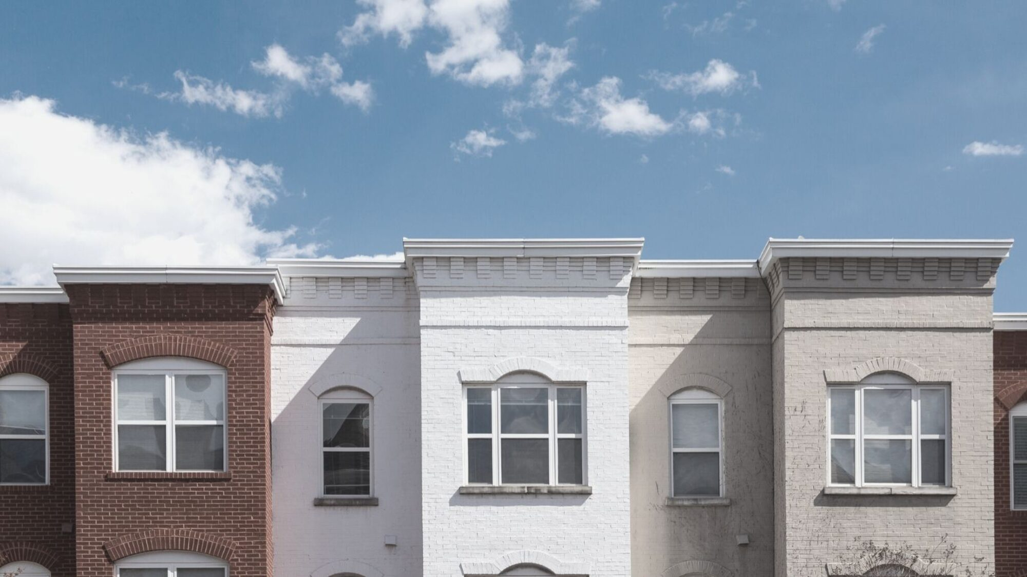 Photo of row houses in DC