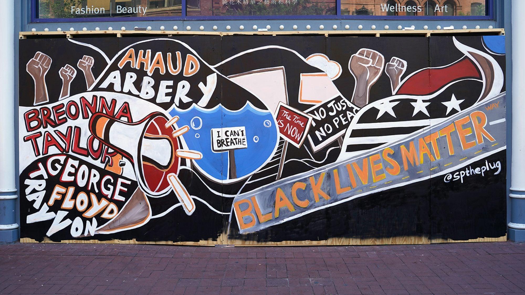Image of Black Lives Matter mural