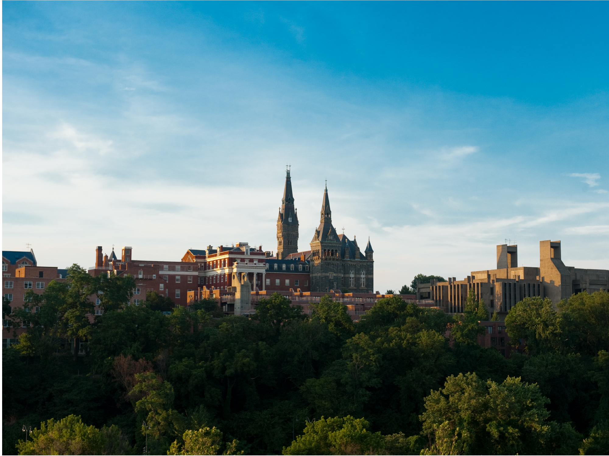 Drone image of Georgetown University main campus