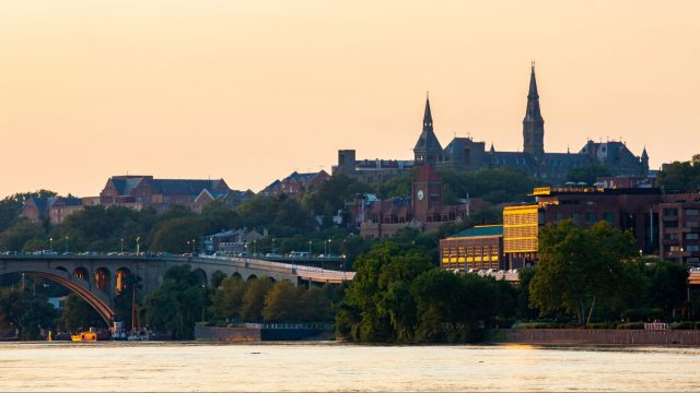 Georgetown University at sunset