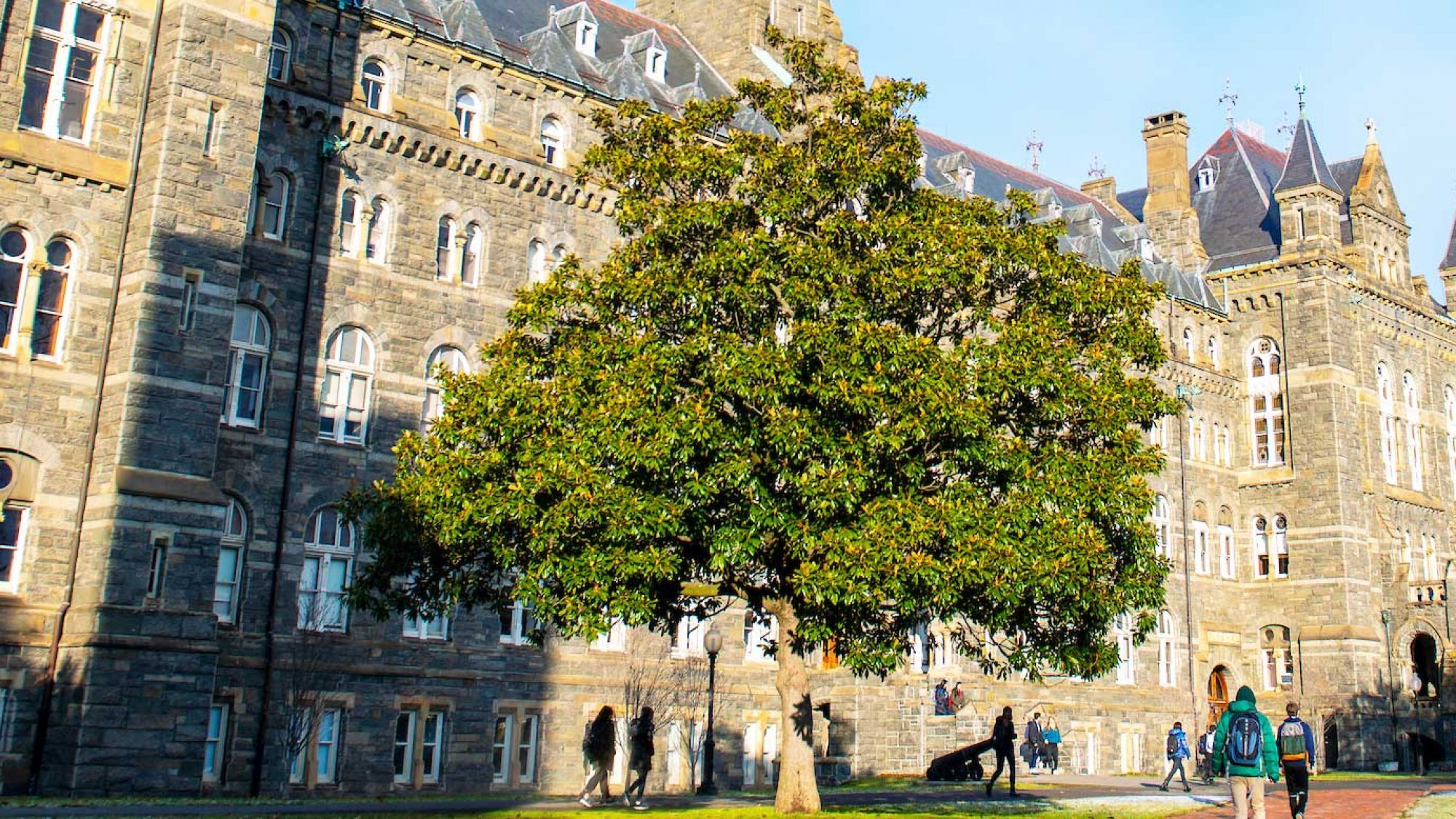 Healy Hall view from the side