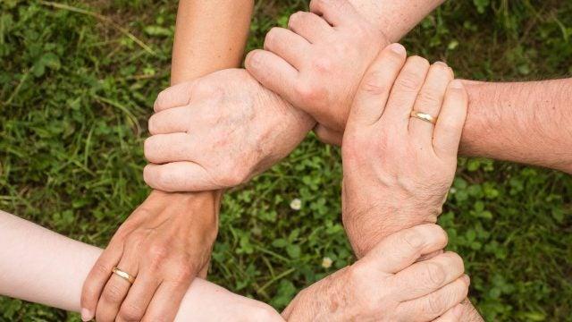 Interlocking hands