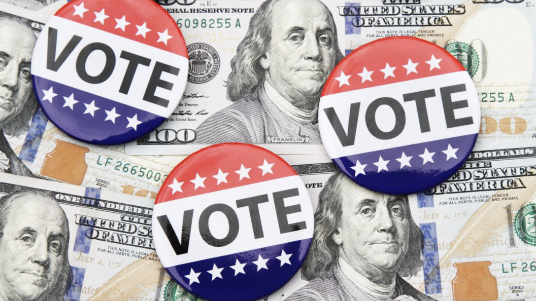 Money and VOTE stickers